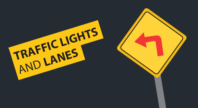 traffic lights lanes
